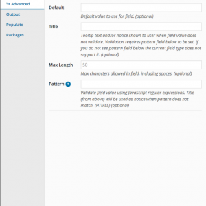 WP Job Manager Field Editor Modal Advanced Tab