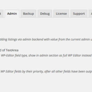 WP Job Manager Field Editor Admin Settings