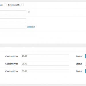 Custom User Pricing Metabox