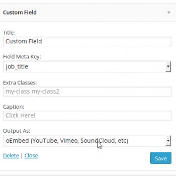 WP Job Manager Field Editor Widget