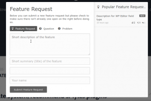Feature Request Modal