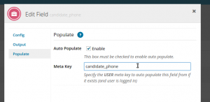 WP Job Manager Field Editor Auto Populate Example