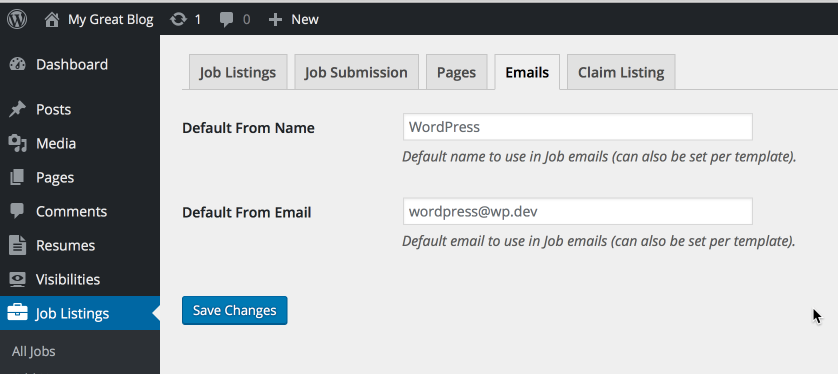 wp job manager emails smyles plugins