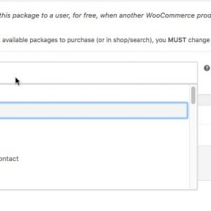 Give Package on Product Purchase