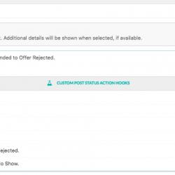 WP Job Manager Emails Custom Post Status Hooks