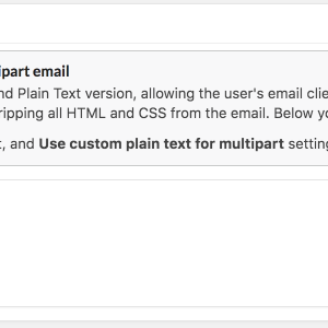 Custom multipart plaintext