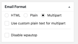 Multipart Email Format