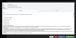 WP Job Manager Emails Generate Preview Email Plaintext