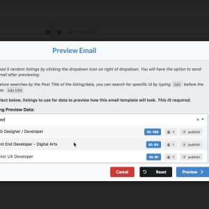 WP Job Manager Emails Generate Preview Email Data