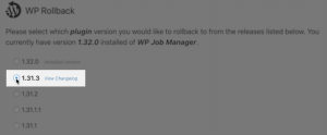 WP Job Manager Rollback 1.31.3