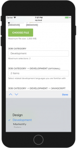 WP Job Manager iPhone Native Select Handling
